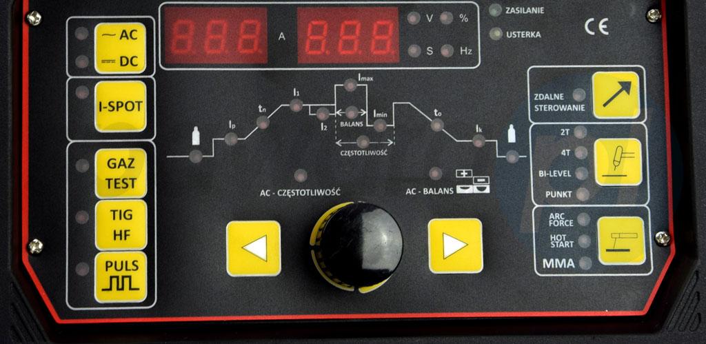 Spawarka TIG AC/DC panel